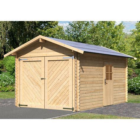 Garage Bois Karibu Portes Battantes  28 Mm 12 M² 280x430 Cm