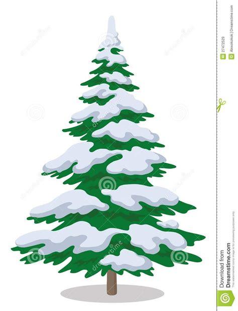 cartoon christmas tree with snow find craft ideas