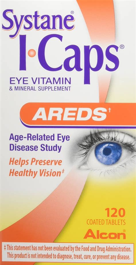 Amazon.com: Systane ICAPS Eye Vitamin AREDS, 120 Coated
