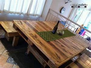 Dining, Table, Out, Of, Pallets, Wood