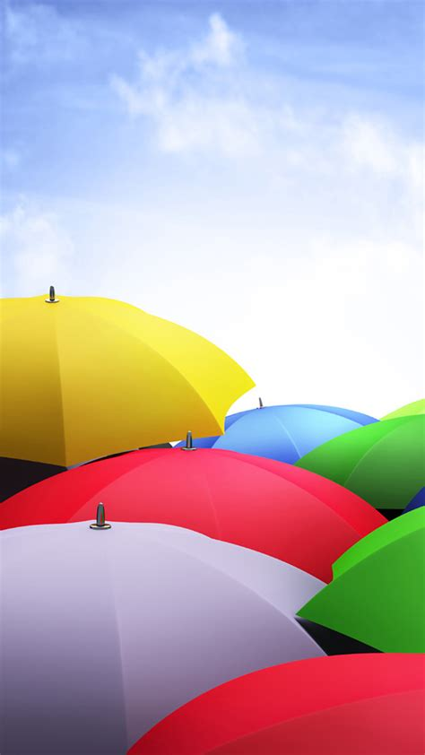 nexus  stock colorful umbrellas android wallpaper