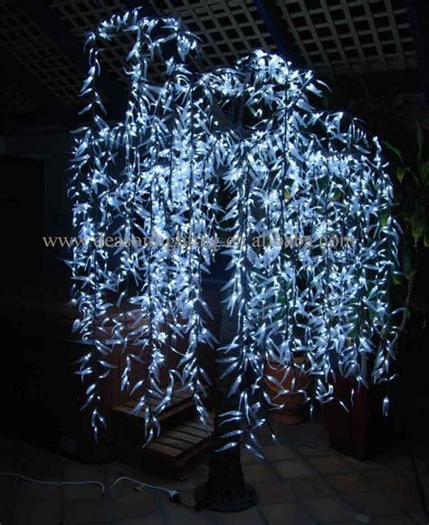 led green willow tree light outdoor decoration on