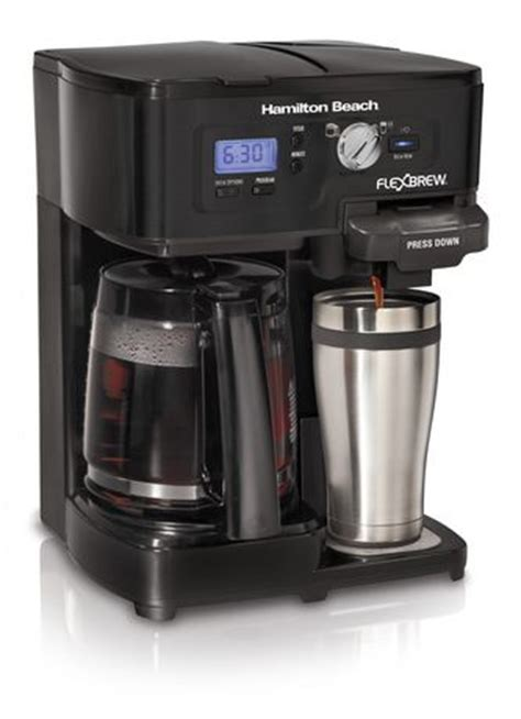 Ideal when you're brewing a cup just for you, and. Hamilton Beach 12- Cup 2-way FlexBrew Coffee Maker- 49985C | Walmart.ca