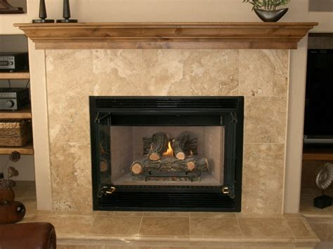 Travertine Tile Fireplace Surround  Fireplace Design Ideas