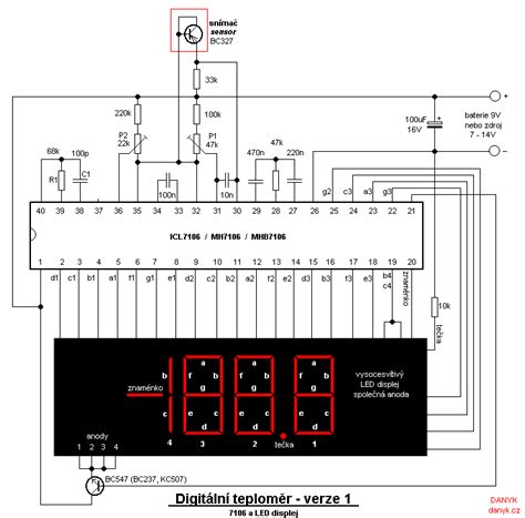 thermometer circuit page  meter counter circuits nextgr