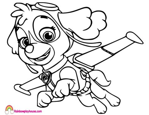 Paw Patrol Coloring Pages Sky at GetDrawings com Free