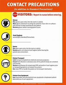 Contact Precautions Sign, English only. - Brevis