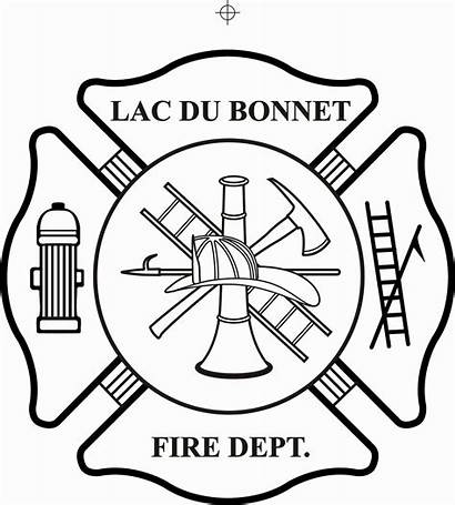 Firefighter Maltese Cross Clipart Coloring Fire Department