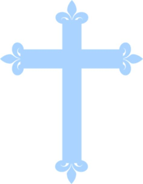 Fleur De Lis Cross  Pale Blue Clip Art At Clkercom