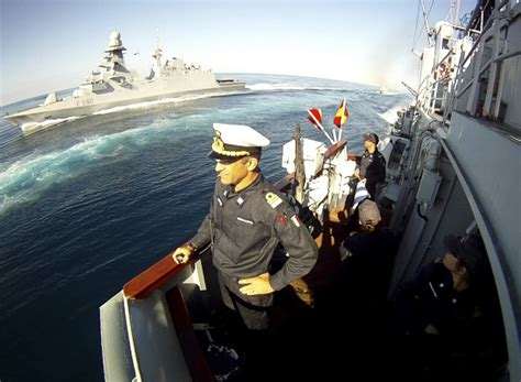 mediterranean kitchen cabinets operation safe seas minister pinotti visits navy ship 4049