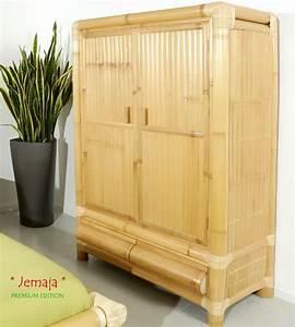 Kleiderschrank Mit Schubladen : jemaja kleiderschrank bambusschrank bambus schrank bambus lounge ~ Sanjose-hotels-ca.com Haus und Dekorationen