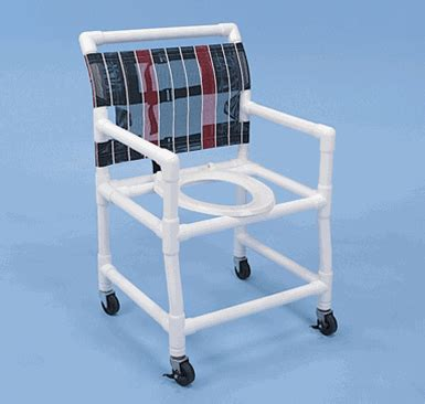 healthline pvc shower commode chair wide sc6013w pvc