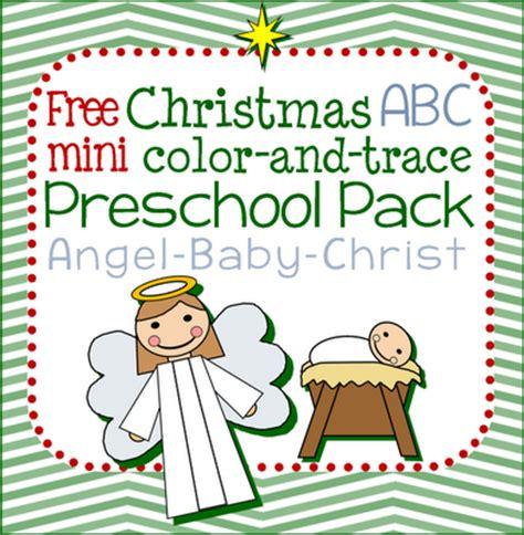 free christmas angel abc preschool pack free homeschool