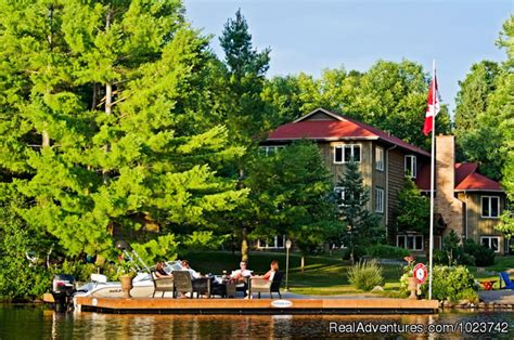 Fairy Lake Huntsville Boat Launch by Fairybay Guest House Huntsville Ontario Bed Breakfasts