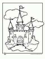 Castle Coloring Links Tale Fairy sketch template