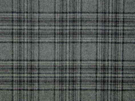 stirling wool tartan check grey black curtain upholstery