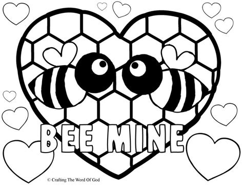 bee  coloring page crafting  word  god