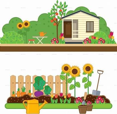 Garden Clipart Gardening Landscape Vegetable Illustrations Transparent
