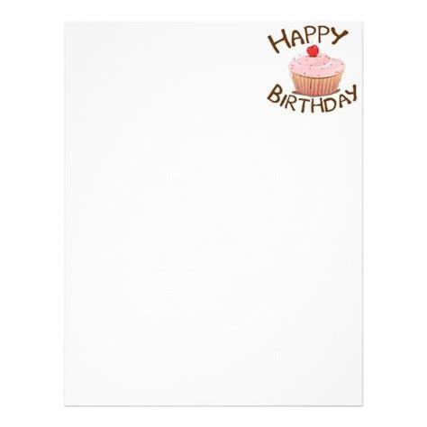 happy birthday flyer templates letter head cupcake happy