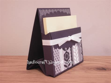Post It Note Holder Template by Hau To Craft Post It Note Holders