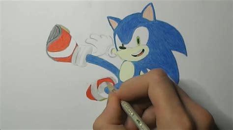 draw sonic  hedgehog youtube