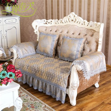 Custom Sofa Cushion Continental Slip Cover Slipcover Towel