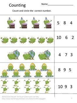 fun  numbers preschool kindergarten math center