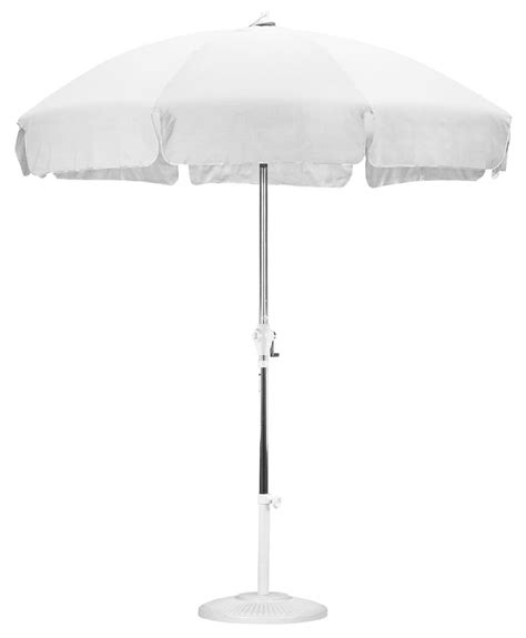 7 5 white patio umbrella push tilt mechanism