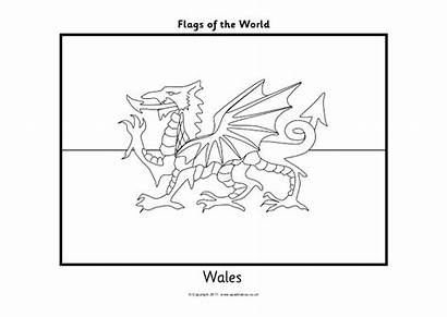 Flags Coloring Wales Flag Template Upcoming Slideshares