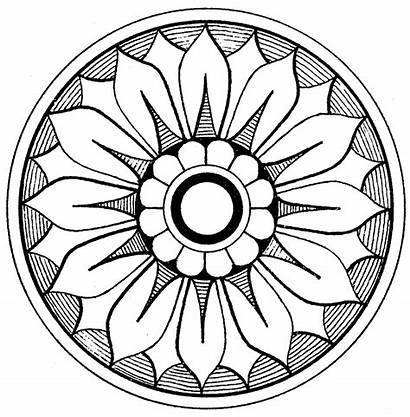 Medallion Clip Coloring Clipart Pages Mandala Medallions