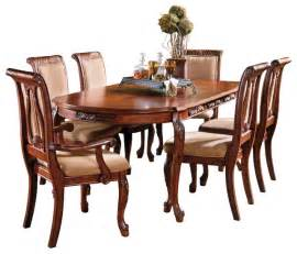 Traditional Dining Room Sets Steve Silver Harmony 7 Oval Dining Room Set In Cherry Traditional Dining Sets By
