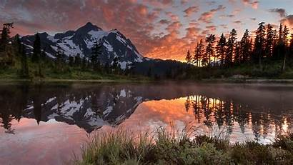 Landscape Canada Nature Mountain Forest Lake Autumn