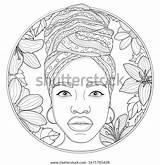 Turban African Vector Antistress sketch template