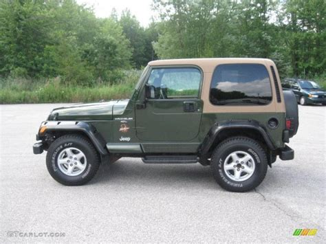 blue green jeep 1997 moss green pearl jeep wrangler sahara 4x4 33745178