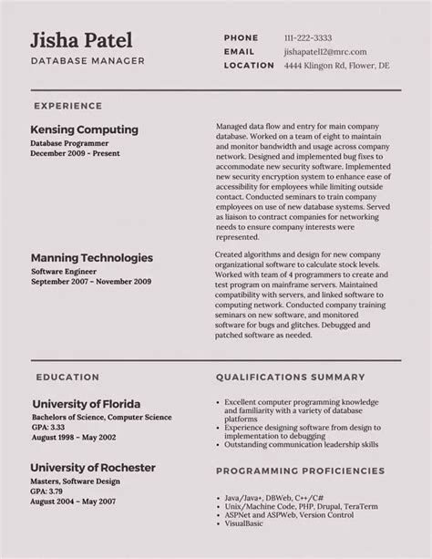 Types Of Resume by What S The Best Type Of Resume To Use Historical Or