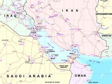 World Map Persian Gulf