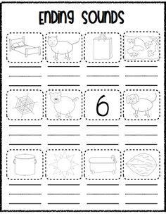 initial final sounds images kindergarten