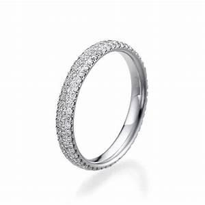 Delicate Wedding Band 14K White Gold Wedding Ring 1 TCW