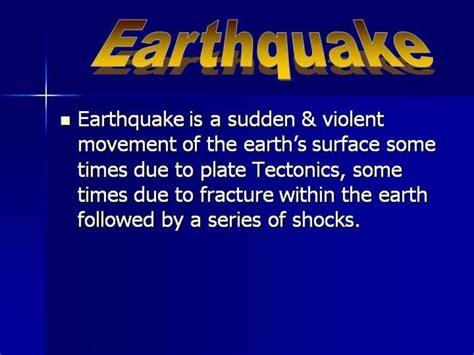 earthquake authorstream
