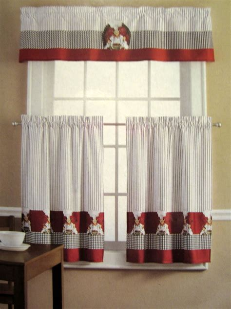 red kitchen curtain sets kitchen and decor