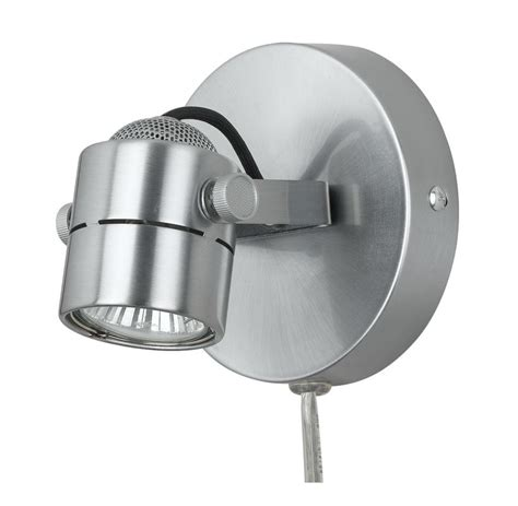 cal lighting bo 997 bs brushed steel one light wall ceiling track head with 5 5ft cord