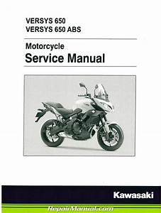 2015 Kawasaki Kle650a Versys    Abs Motorcycle Service Manual
