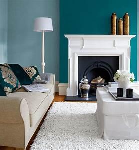 bleu turquoise et gris en 30 idees de peinture et decoration With couleur beige peinture murale 2 couleur peinture salon conseils et 90 photos pour vous