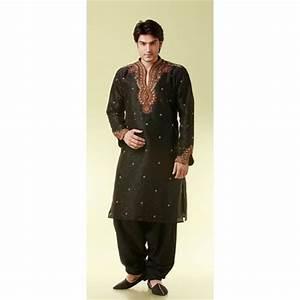 Tenue Indienne Homme : tenue indienne noir et brod de fil dor ~ Teatrodelosmanantiales.com Idées de Décoration