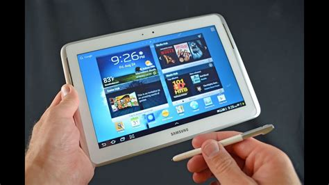 samsung galaxy note  tablet unboxing review youtube