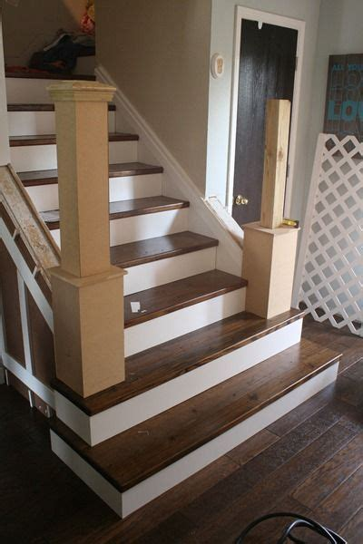 beautiful budget stair remodel  carpet  wood treads staircase remodel living room