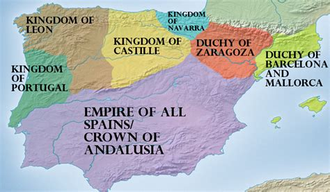 spain map andalusia andalusian kingdoms accurate ahc based alternatehistory peninsula points northern
