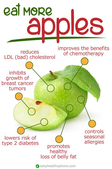 health benefits  apples easy health options