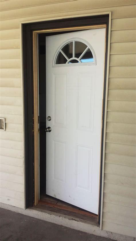 replacing  reversing  door swing  outward   swing