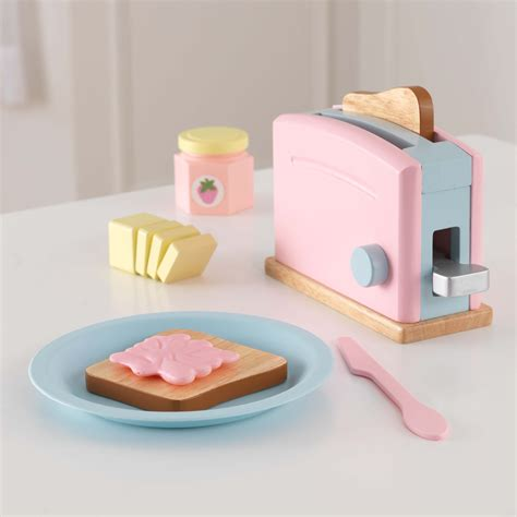 pretend kitchen accessories kidkraft pastel toaster set play kitchen accessories at 1645